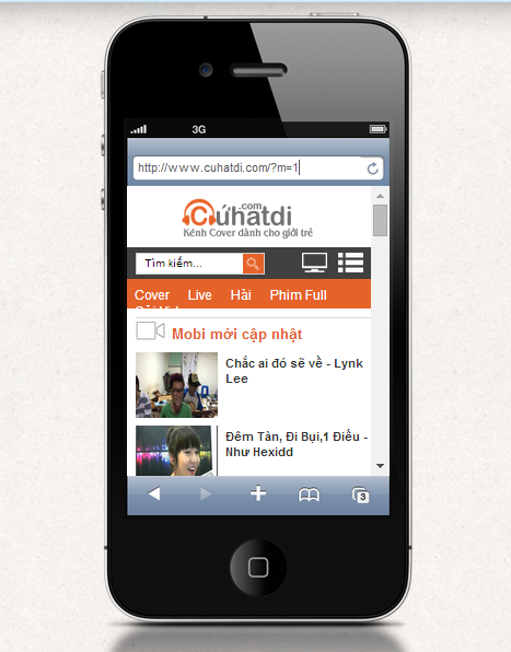 teamplate video giao dien mobile
