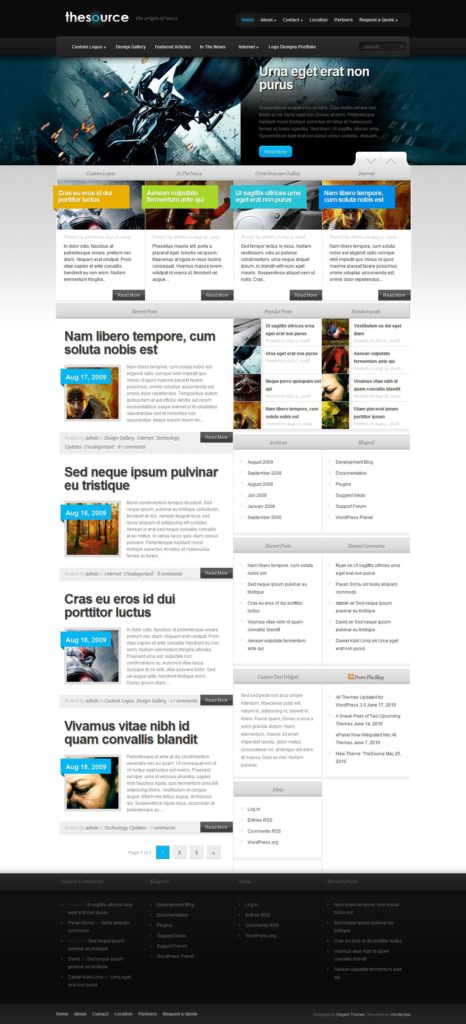 theme wordpress thesource