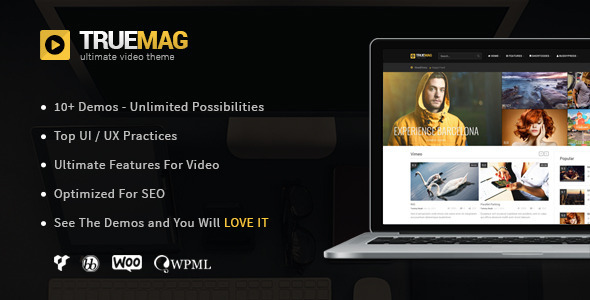 True Mag – Teamplate wordpress cho video và tạp chí