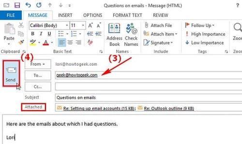 cách forward email trong outlook