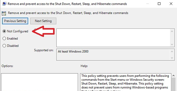 Sửa lỗi there are currently no power options available trên Windows 10