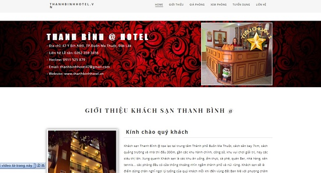 download template landing page review khach san
