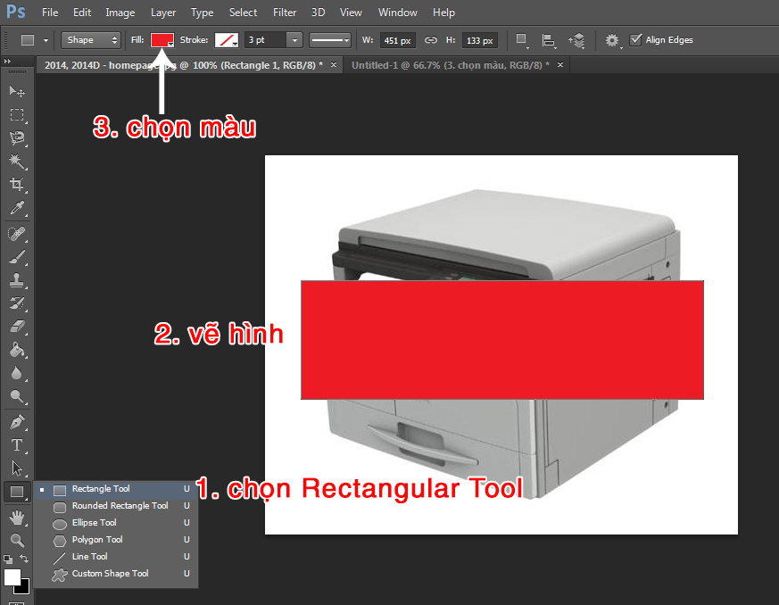Tạo khung trong suốt trong photoshop