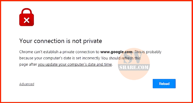 sua loi Your connection is not private