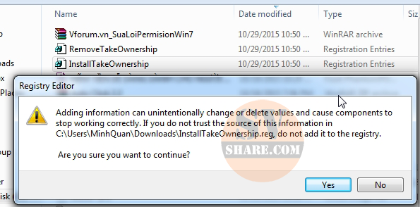 sua loi you dont currently have permission to access this folder