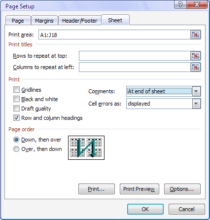 huong dan cach in comment trong excel