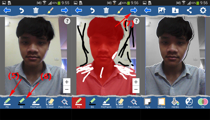 su dung dien thoai android de tach hinh anh
