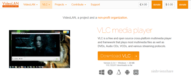 tinh nang an cua VLC Media Player