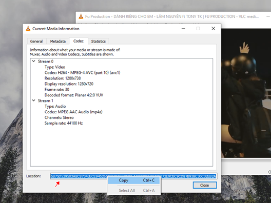 tinh nang tai video tren youtube bang VLC Media Player