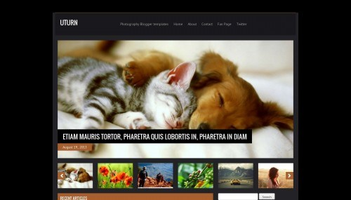 uturn-blogger-template