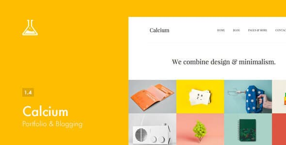 Calcium – Theme WordPress hàng của Themeforest