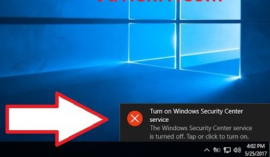 Cách Tắt Thông Báo Disable Windows Security Center Service