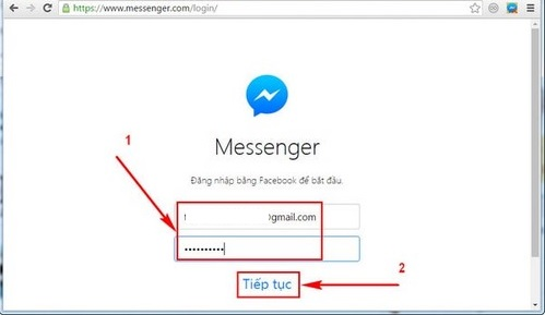 xem ban be online bang facebook messenger for windows