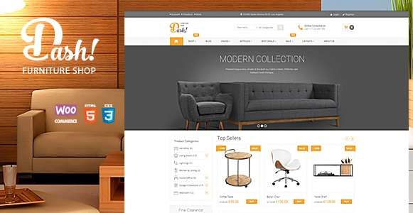Dash - Handmade Furniture Marketplace Theme Wordspress
