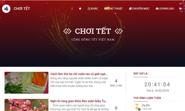 download template blogspot dep chu de tet
