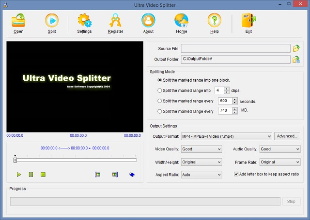 Download Ultra Video Splitter