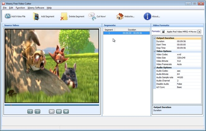 Download Weeny F ree Video Cutter