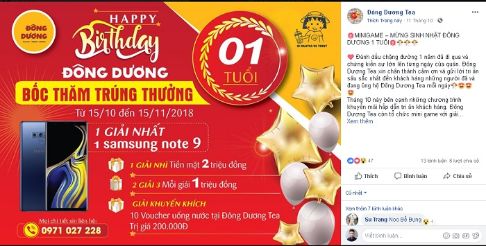 Minigame boc tham trung thuong
