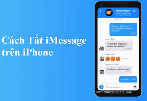 cach tat imessage tren iphone